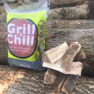 Kild dried beech firewood logs - whittle and flame