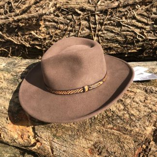 Whittle & Flame stetson hat - charcoal makers hat